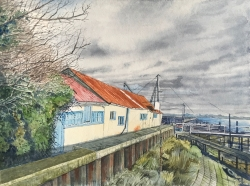 Huts Heybridge Basin Painting