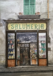 Salumeria, Naples Painting