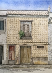 House in Tavira' Portugal Painting