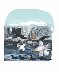 Gannetts at Rathlin Island Print