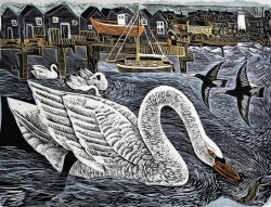 Southwold Swan Print