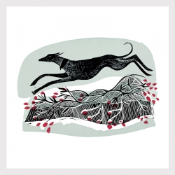 Winter Whippet Print
