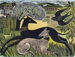 Two Yorkshire Whippets Print