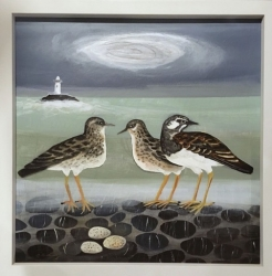 Turnstone and Lighthouse Painting