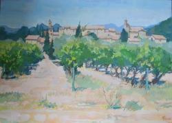 Puymeras, Provence Painting