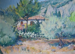 Cacti Provence Painting