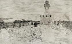 Fishing at Dover, 1941 Print