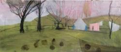 Pink Blanket Painting