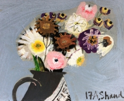 Daisies and Chrysanthemums Painting