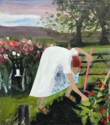 Amongst the Leeks Painting