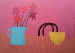 Blue Jug, Yellow Bowl Painting
