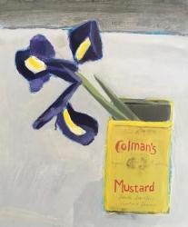 Iris and Mustard Pot Painting