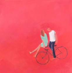 Two on a Bike Painting