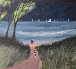 Where the Path meets the Sea Painting