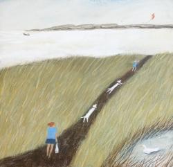 Summer Breeze across the Marsh Painting