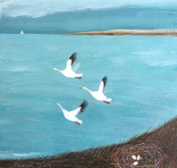 Snow Geese Painting