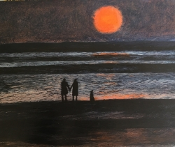 Waiting till the Sun Sets Painting