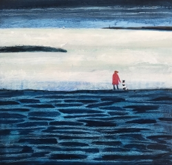 Waters edge in Winter Painting