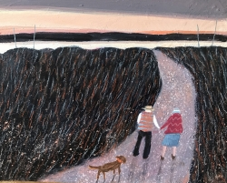 At the end of the day Painting by Barbara Peirson