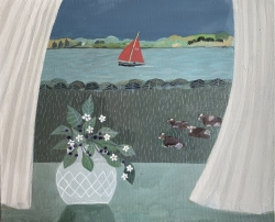 Breeze from the Marsh Painting by Barbara Peirson