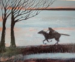 Dark Horse Painting by Barbara Peirson