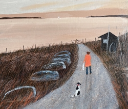 Early Morning Tide, Aldeburgh Painting by Barbara Peirson