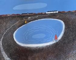 Blue Lagoon (Shingle Street) Painting by Barbara Peirson