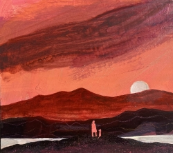 A Sudden Flaming Sky Painting by Barbara Peirson