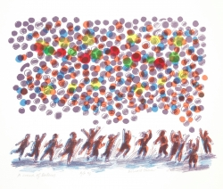 A Crowd of Balloons Print