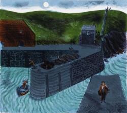 The Evening Tide Porthgain Print
