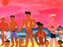 Hot Miami Beach Painting