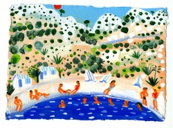 On the beach Sugton Calanque near Marseille Painting