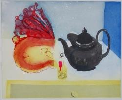 A Piece of Pumpkin Trying to Eat a Teapot Print