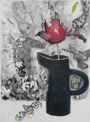 Dark Tulip and Bay Tree Print