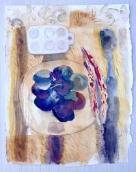 Still Life on Fake Fur - Venice Painting
