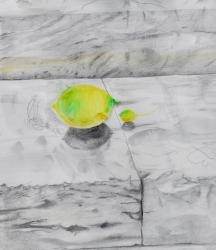 Lemons on Marble Steps Pietrasanta Painting