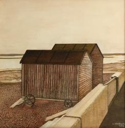 Mrs Speakman's Beach Hut Painting
