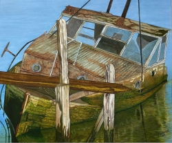 Old Boat Painting