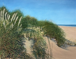 Sea and Sand Dunes Painting