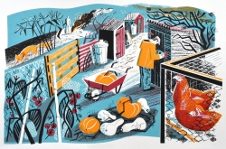 All Hallows Print by Clare Curtis
