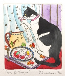 Paws for thought Print by Daphne Sandham