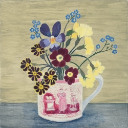 Faith Cup and Spring Flowers Painting