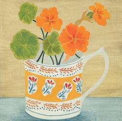 Bloomsbury Cup and Nasturtiums Painting