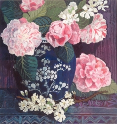 Camellias and Plum Blossom Painting