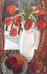 Winter Tulips Painting