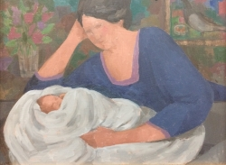Woman and Baby Painting