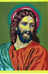 Jesus colour by numbers Print