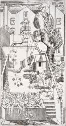London back gardens Print
