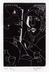 Two at a Bar Print by Edward Burra