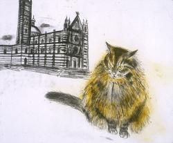 Sienese Cat Print